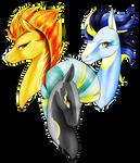 [MLP speedpaint] RP Soarin, Spitfire, Thunderlane by Oneiria-Fylakas