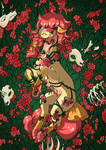 Pony YCH  Sunset Rose's hanahaki by Oneiria-Fylakas