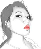JEN: Red lips. by ohScorpio