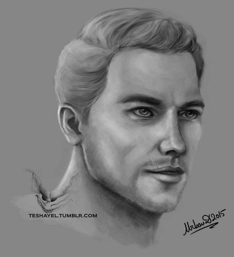Cullen Rutherford portrait study by Teshayel
