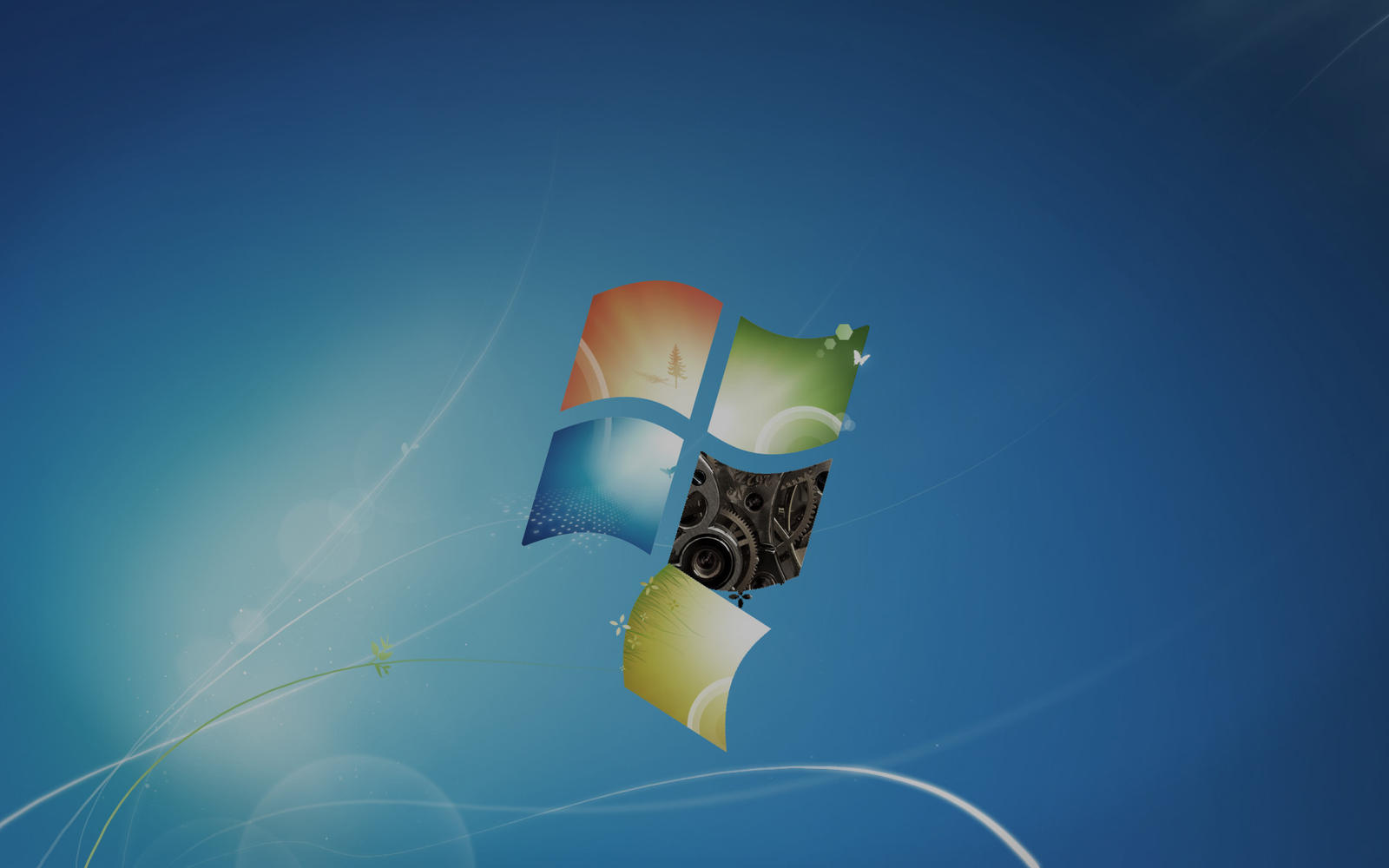badly aged windows 7 default wallpaper by derpy sheen on
