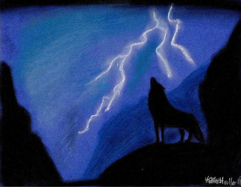 wolves and lightning wallpapers - photo #17