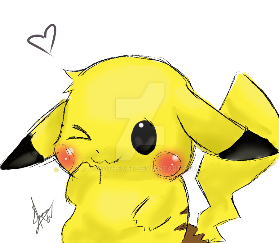 Cute Pikachu Pokemon Drawing