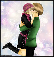 [Prize] SakuraxSyaoran kiss by amethyst-rose
