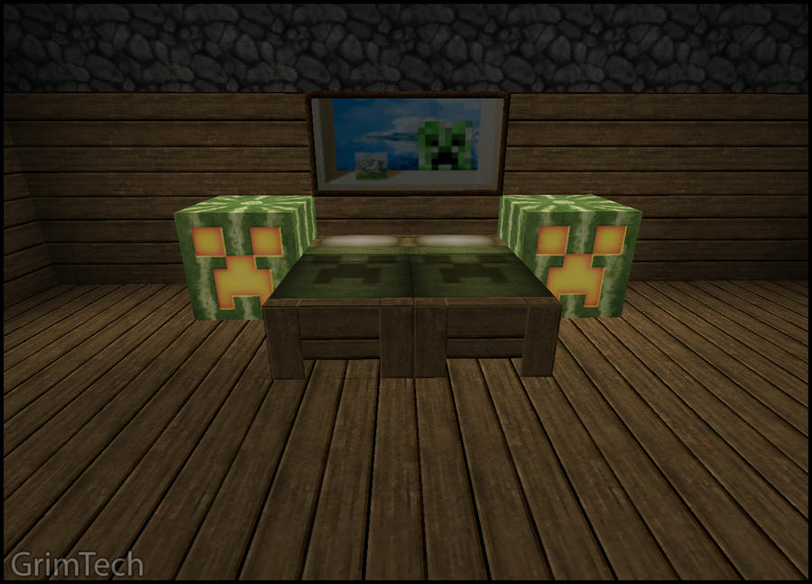 Minecraft bedroom set by patrickjr on deviantart for Minecraft bedroom set