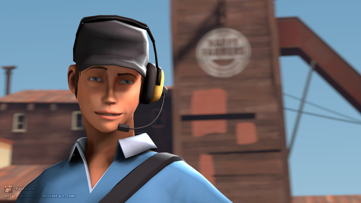 SFM Poster: The Femscout (Blu w/o Bow) by PatrickJr