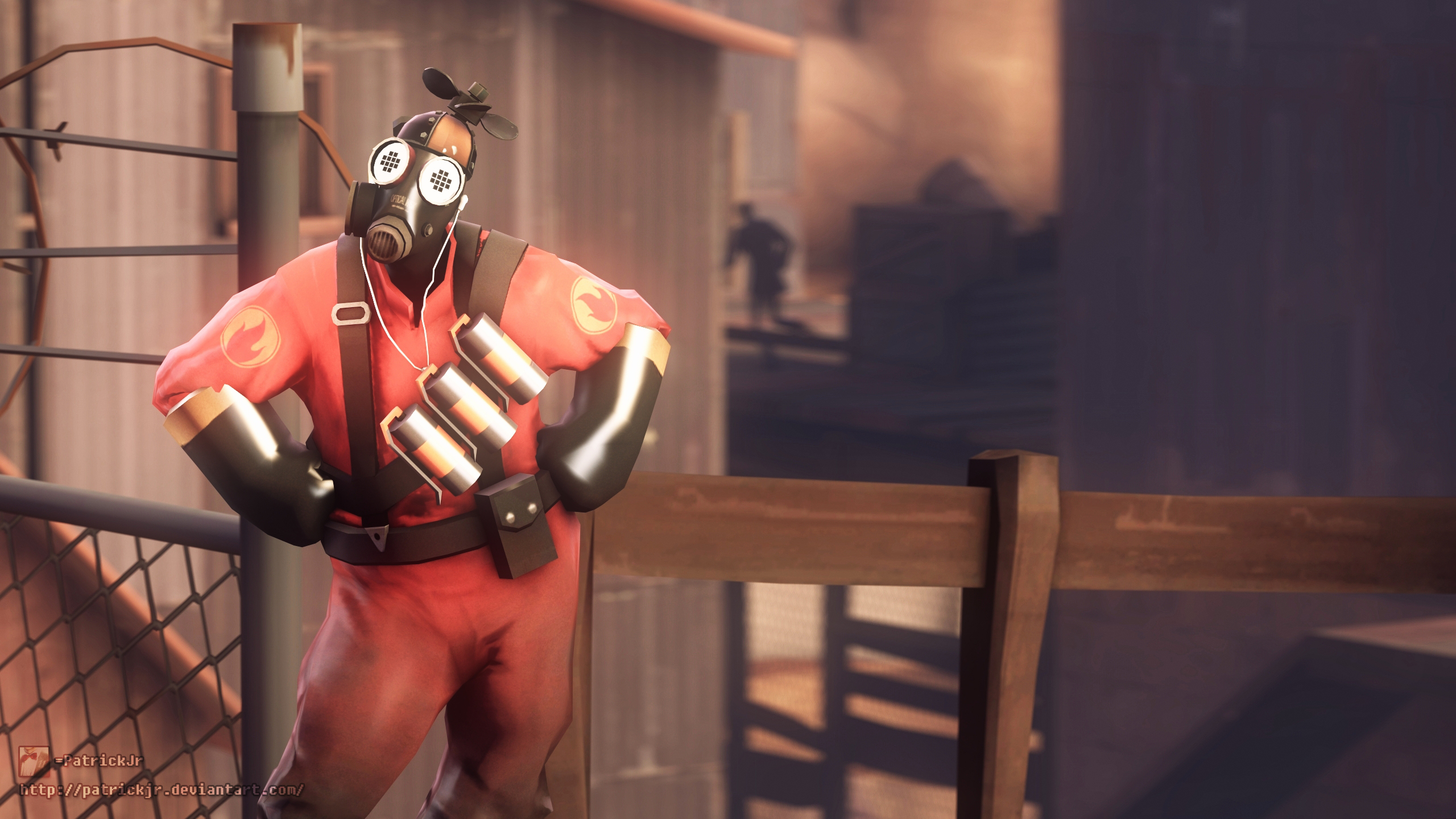 SFM Poster: The Whirly Bird Pyro by PatrickJr