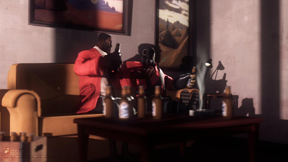 SFM Poster: Demo and Pyro Chilling by PatrickJr