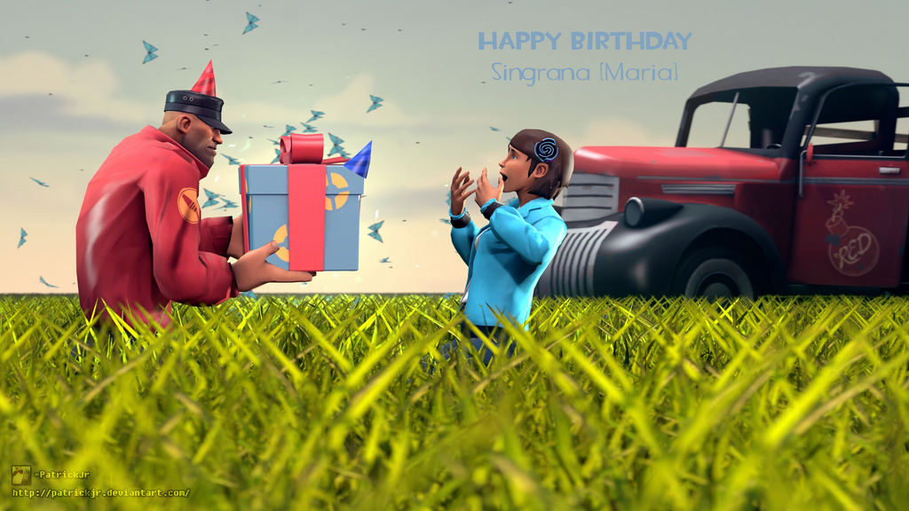 SFM Poster: Happy Birthday Maria! by PatrickJr