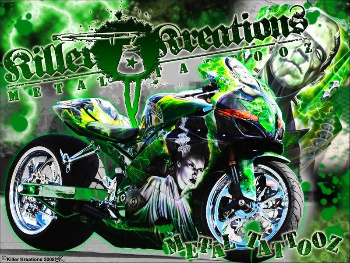 Horror Movie Bike by KillerKreationsInc