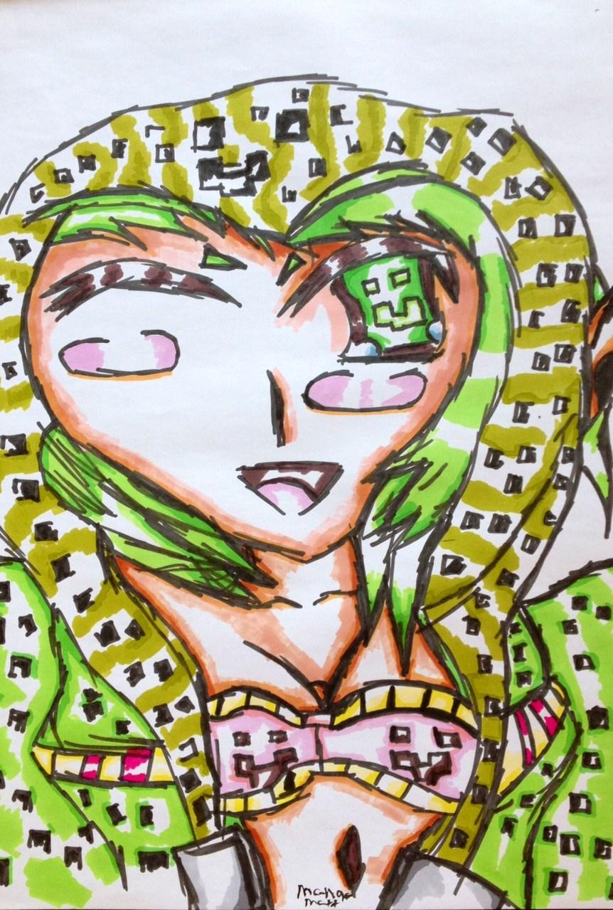 Minecraft creeper anime girl by mangamatt98 on deviantart - Creeper anime girl ...