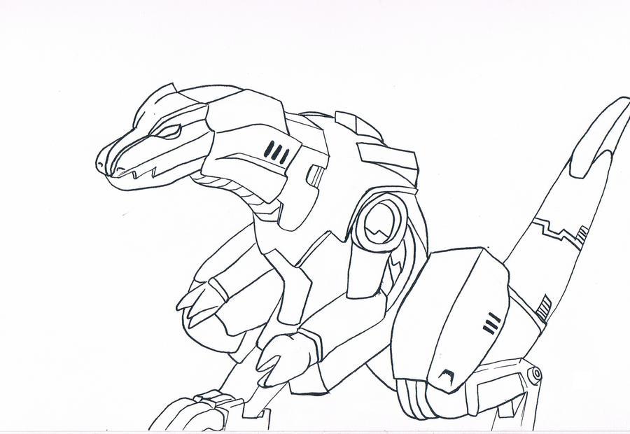 Zeke Zoids Lineart by animeninjayaya
