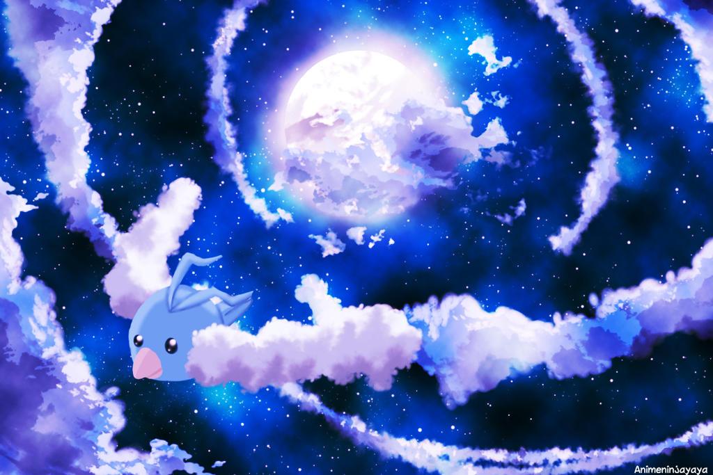 Swablu night flight by animeninjayaya