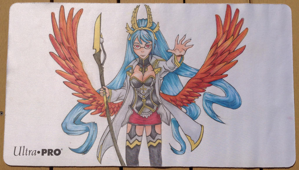 Angel Feathers Playmat by animeninjayaya