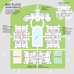 Bay Flats Property Map by Asraniel