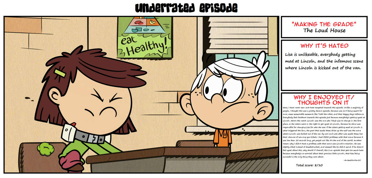 loud house episode making the grade