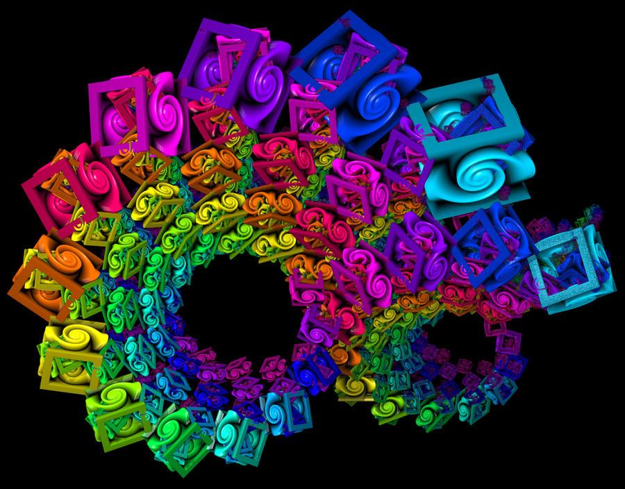 Rainbow Fractal by BrandonCWatson