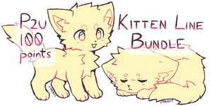 P2U Kitten Lineart Bundle