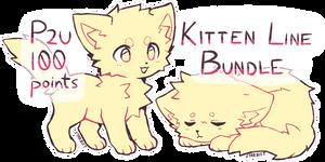 P2U Kitten Lineart Bundle