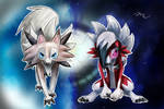 Midday and Midnight Lycanroc