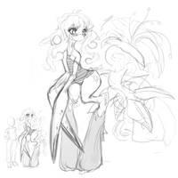 Doodles - Tall Girl by Slugbox