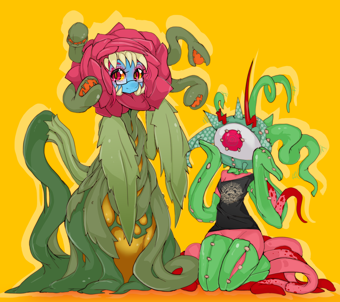 Halloween Tentacle Monsters by Slugbox