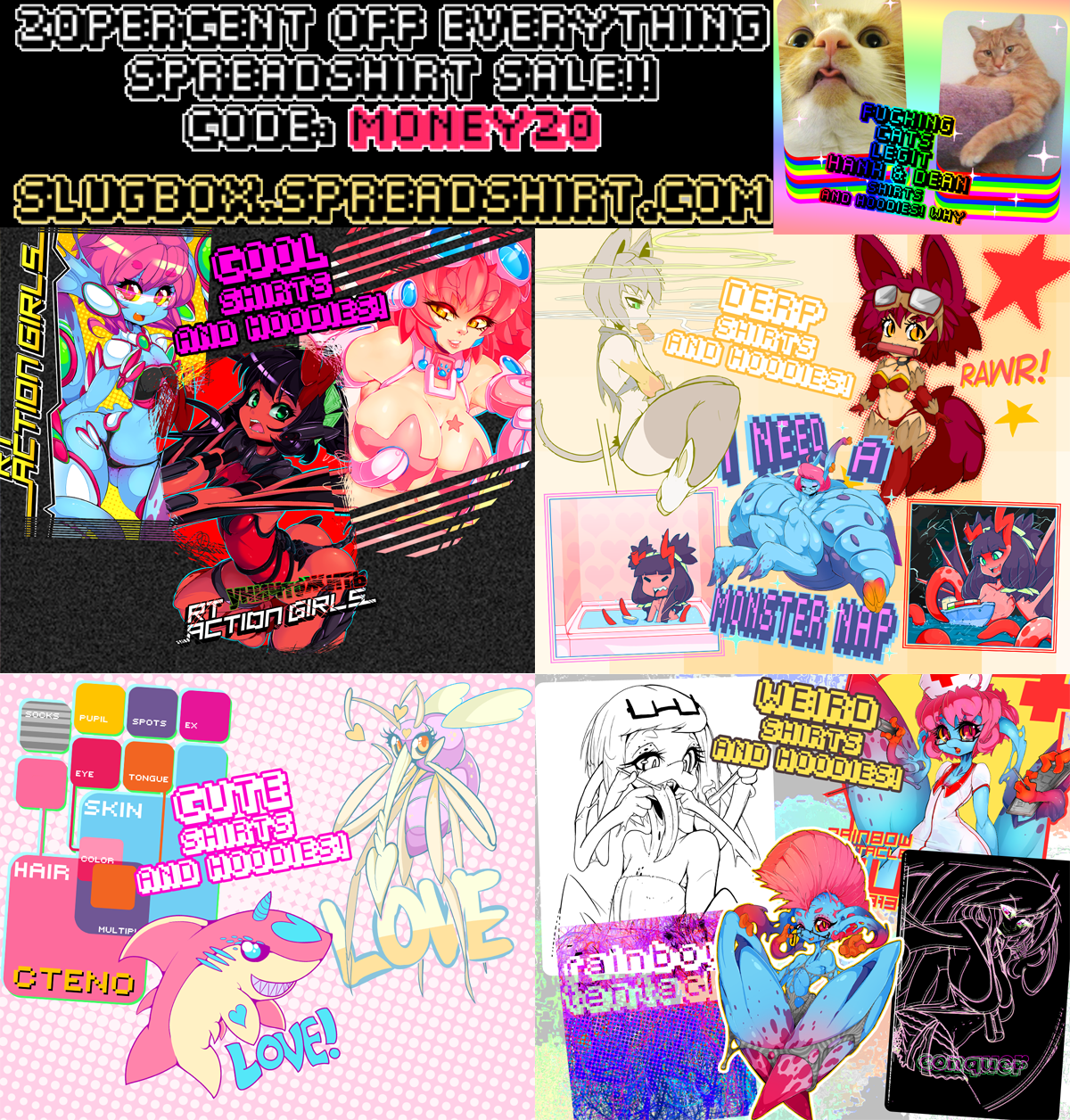 20 PERCENT OFF SHIRT AND HOODIES SALE JFC BUY ONE by Slugbox