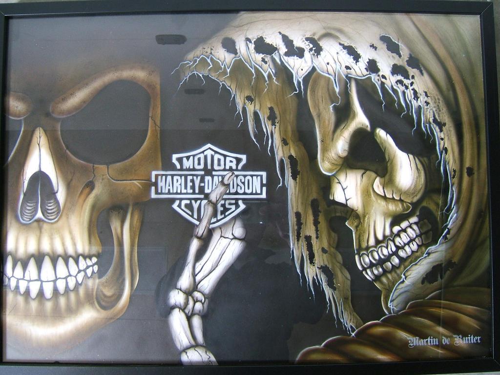 Harley Davidson Skull Wallpaper Skulls By