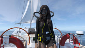 Michiko wetsuit boat 2