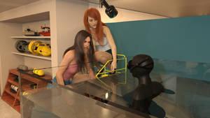 Irina at the dive shop 14