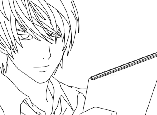 Dibujos Para Colorear De Death Note: Death Note Light Yagami Coloring Pages