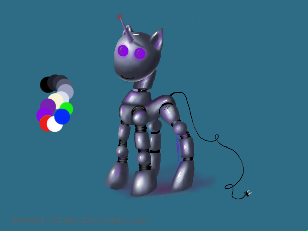 Robot Mlp Unicorn Adoptable Closed By Americanacelta On Deviantart