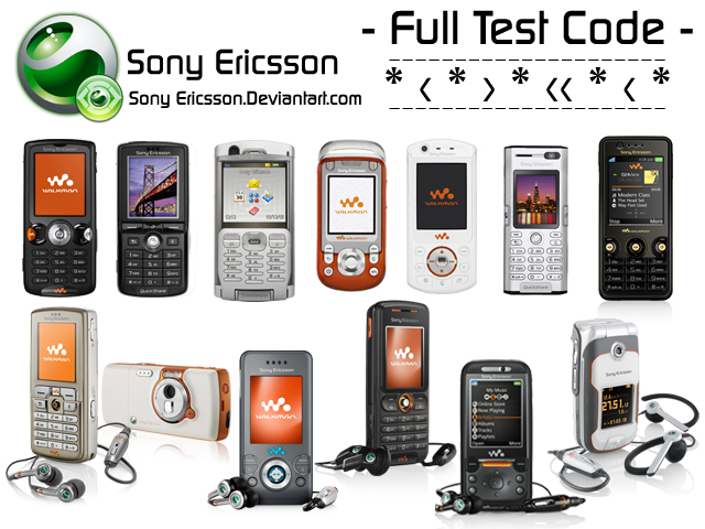 Sony Ericsson Full Test code by sonyericsson