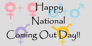 Happy National Coming Out Day by xDarkNecroFearx