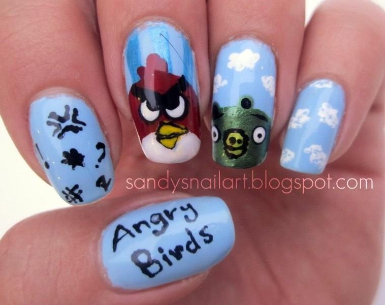 Angry Birds Nail Art by sanooda87 on DeviantArt