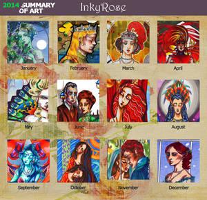InkyRose Art Summary 2014