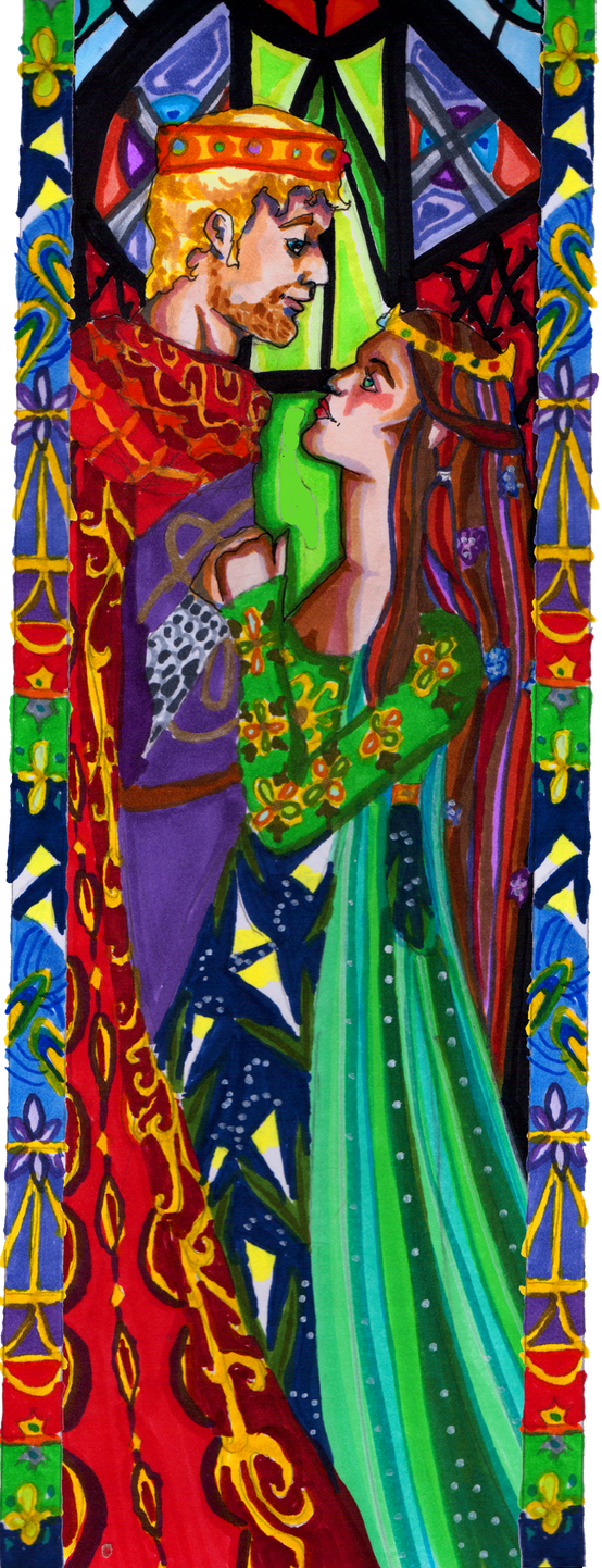 Guinevere and Arthur by InkyRose