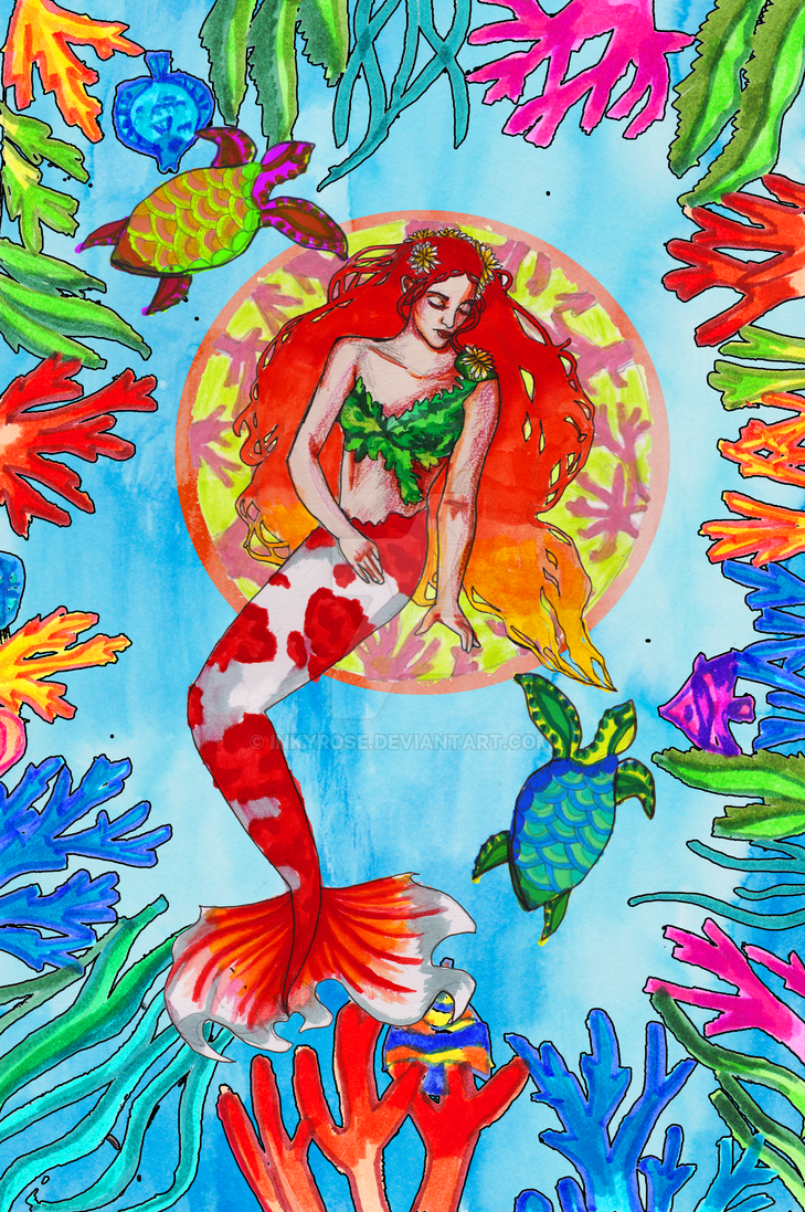 Siren of the coral reef by InkyRose