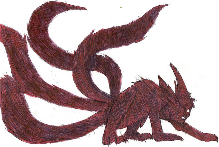 Four-Tailed Kyuubi Naruto By Ninja-dog47 On DeviantArt