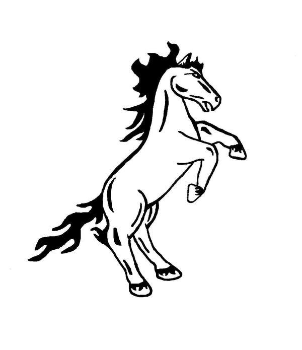 rearing horse body art by coreybear on deviantart. Black Bedroom Furniture Sets. Home Design Ideas
