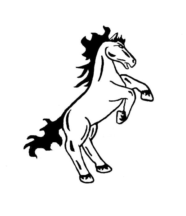 rearing horse body art 2 by coreybear on deviantart. Black Bedroom Furniture Sets. Home Design Ideas