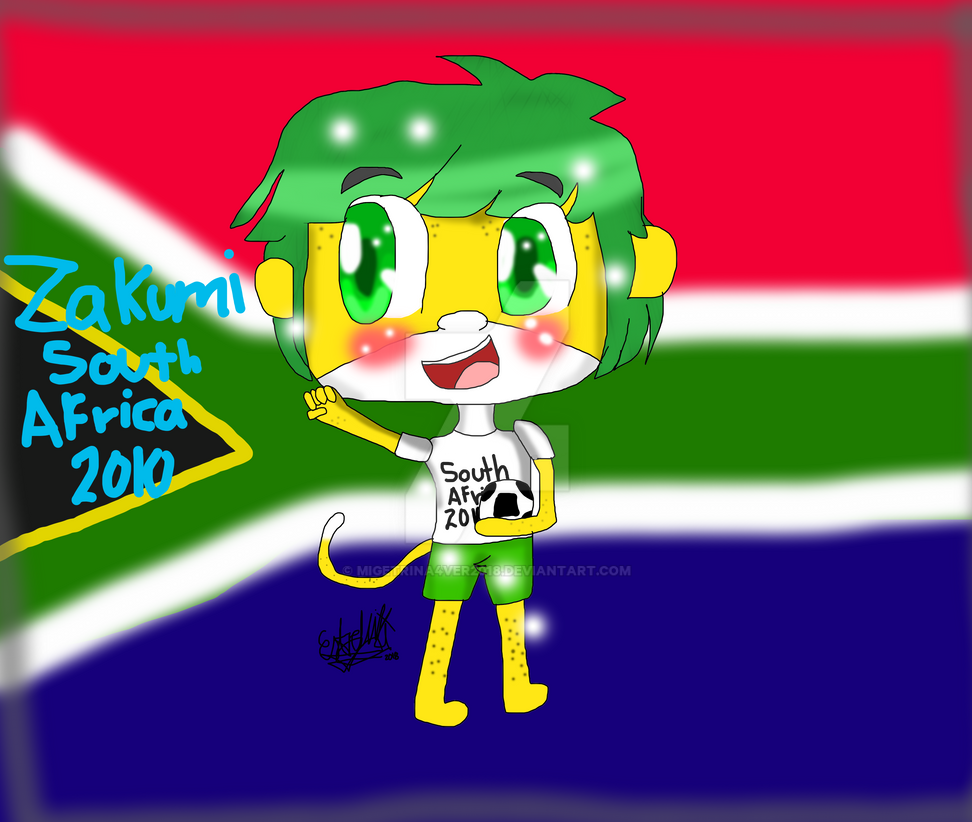 World cup mascots-Zakumi by migetrina4ver2018