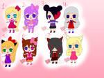 Cute girls adoptables 2/8 by migetrina4ver2018