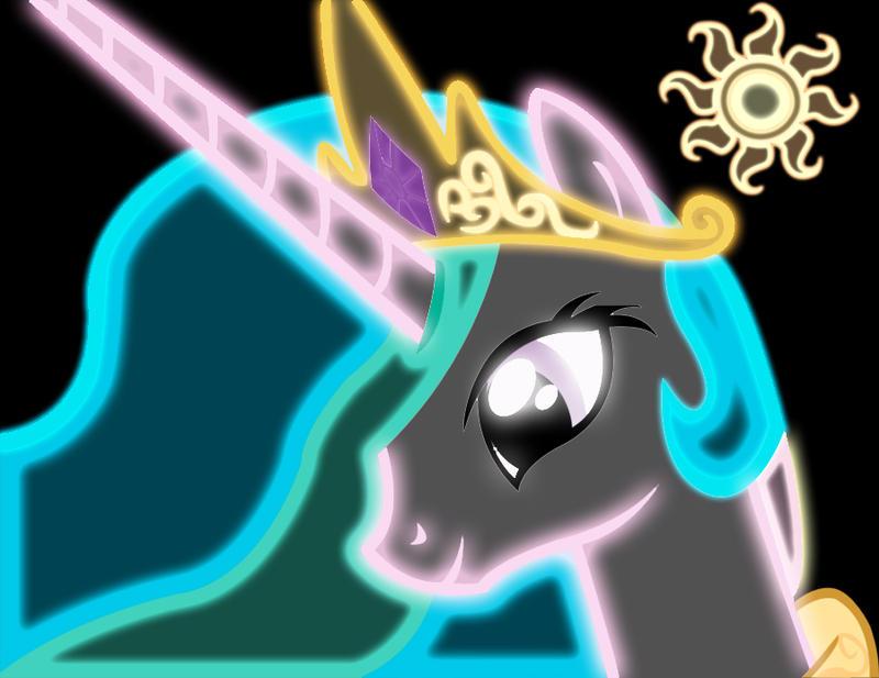 princess celestia neon by alphaponz on deviantart