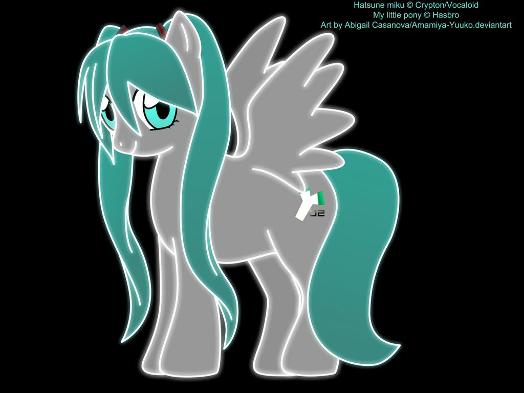 My Little Pony Miku Neon by AlphaPonz