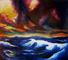 blazing sea