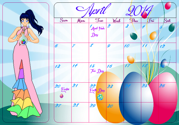 Calendar Girl April Read : Ssmu calendar girls kayura april by angel of love