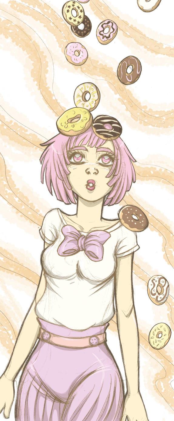 Donuts Girl by GloriaScott