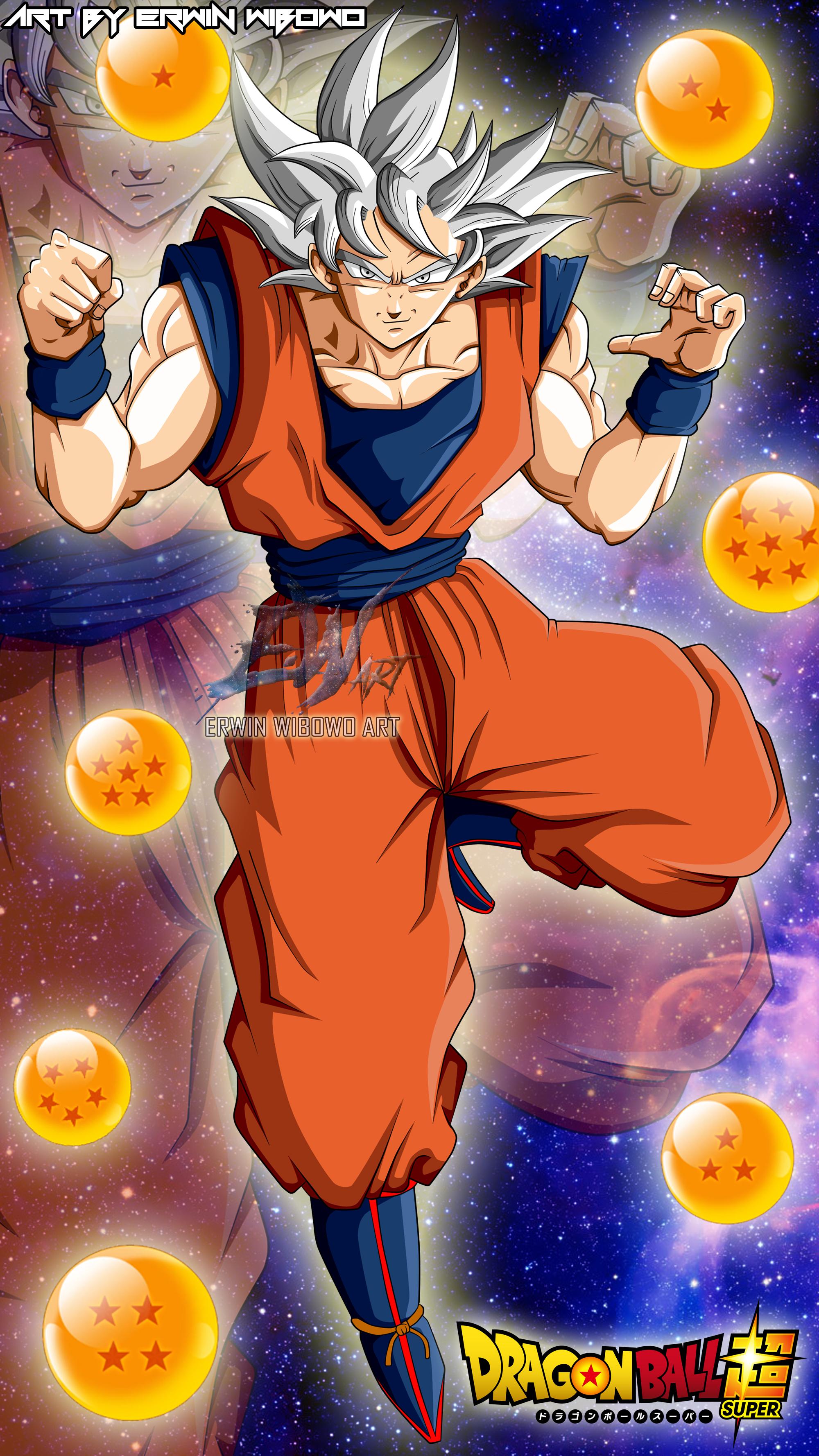 Son Goku Mastered Ultra Instinct Wallpaper By Erwinwibowoart On