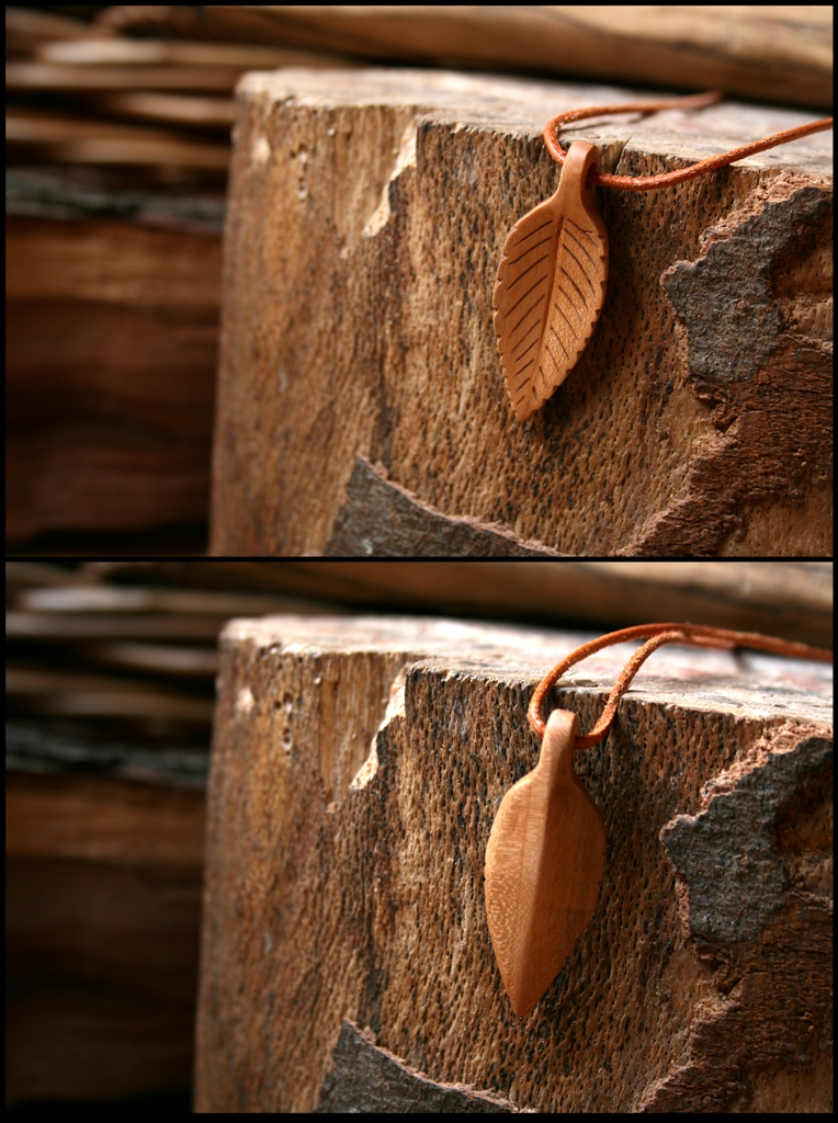 Cherry Leaf Pendant by Hluthvik